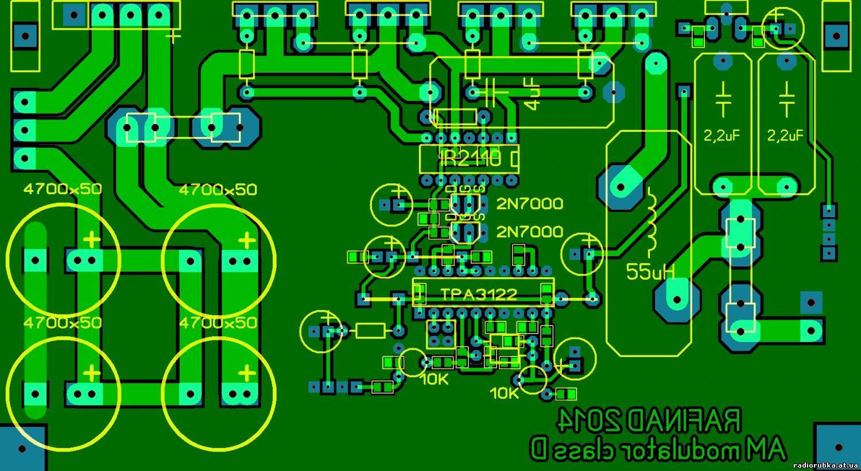 AM радиопередатчик на семи транзисторах 160м 10Вт